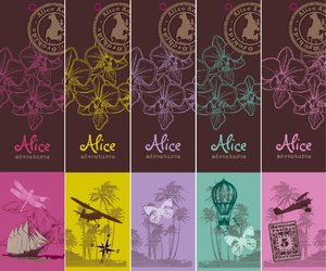 Alice Adventures Orchidee Phalaenopsis Labels